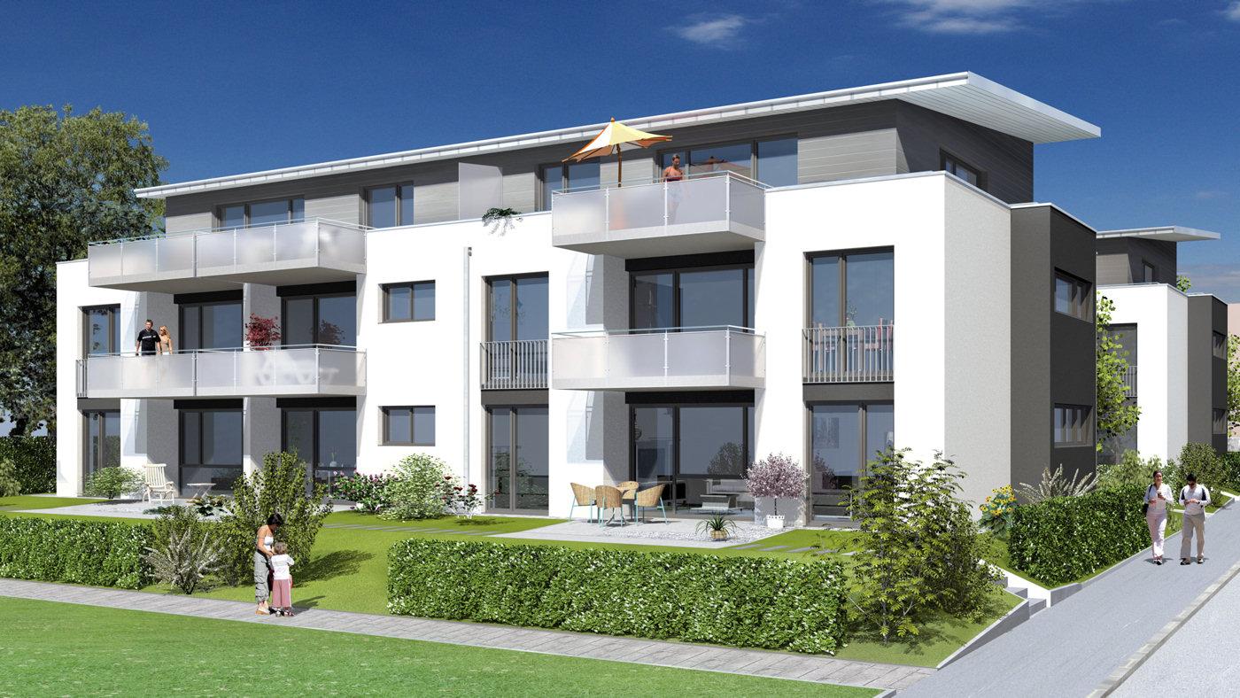 Architekten L Beck modelldigital 3d architektur visualisierung wohnungsbau 3d modell und animation