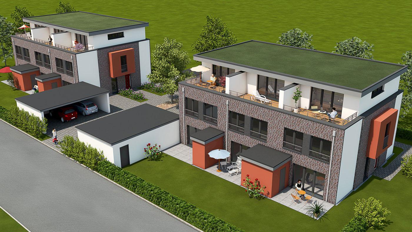 modelldigital 3d architektur visualisierung wohnungsbau. Black Bedroom Furniture Sets. Home Design Ideas
