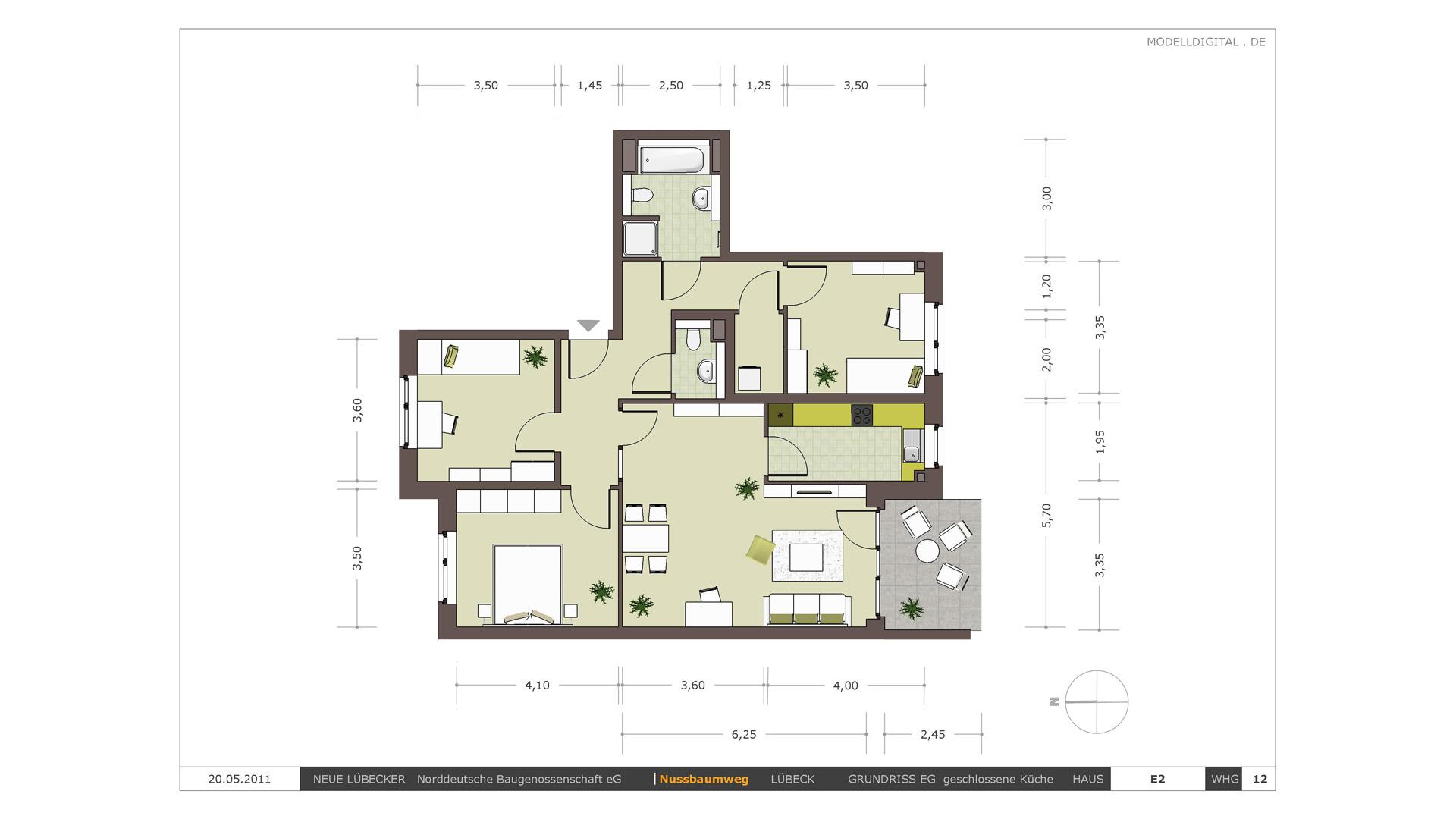 modelldigital | architekturvisualisierungen lübeck | 3d-grundrisse