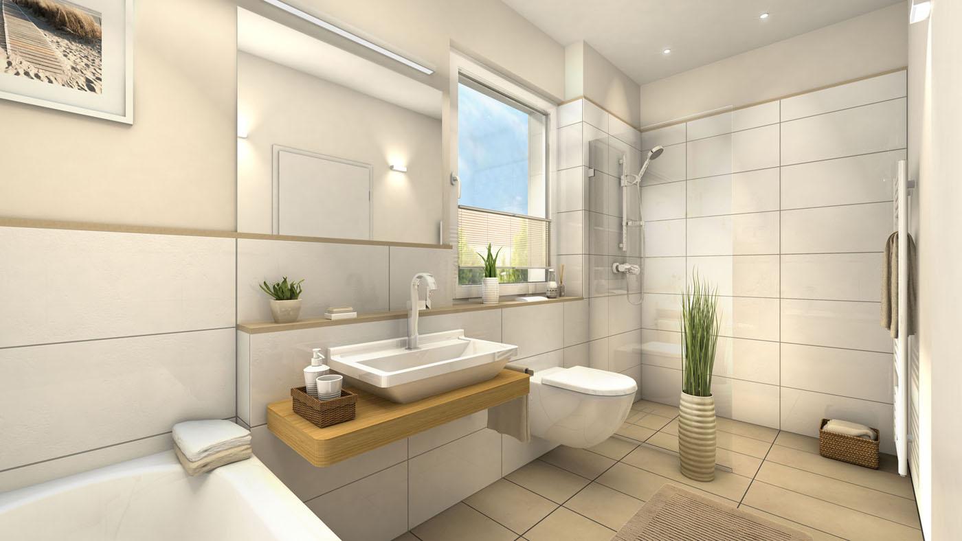 Great 3D Architektur Visualisierung Badezimmer Der Stadthäuser / Reihenhäuser